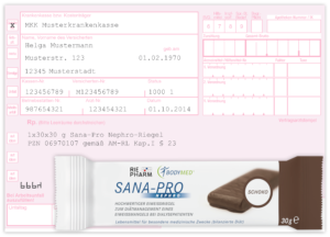 SANA-PRO Nephro_Rezept mit Riegel