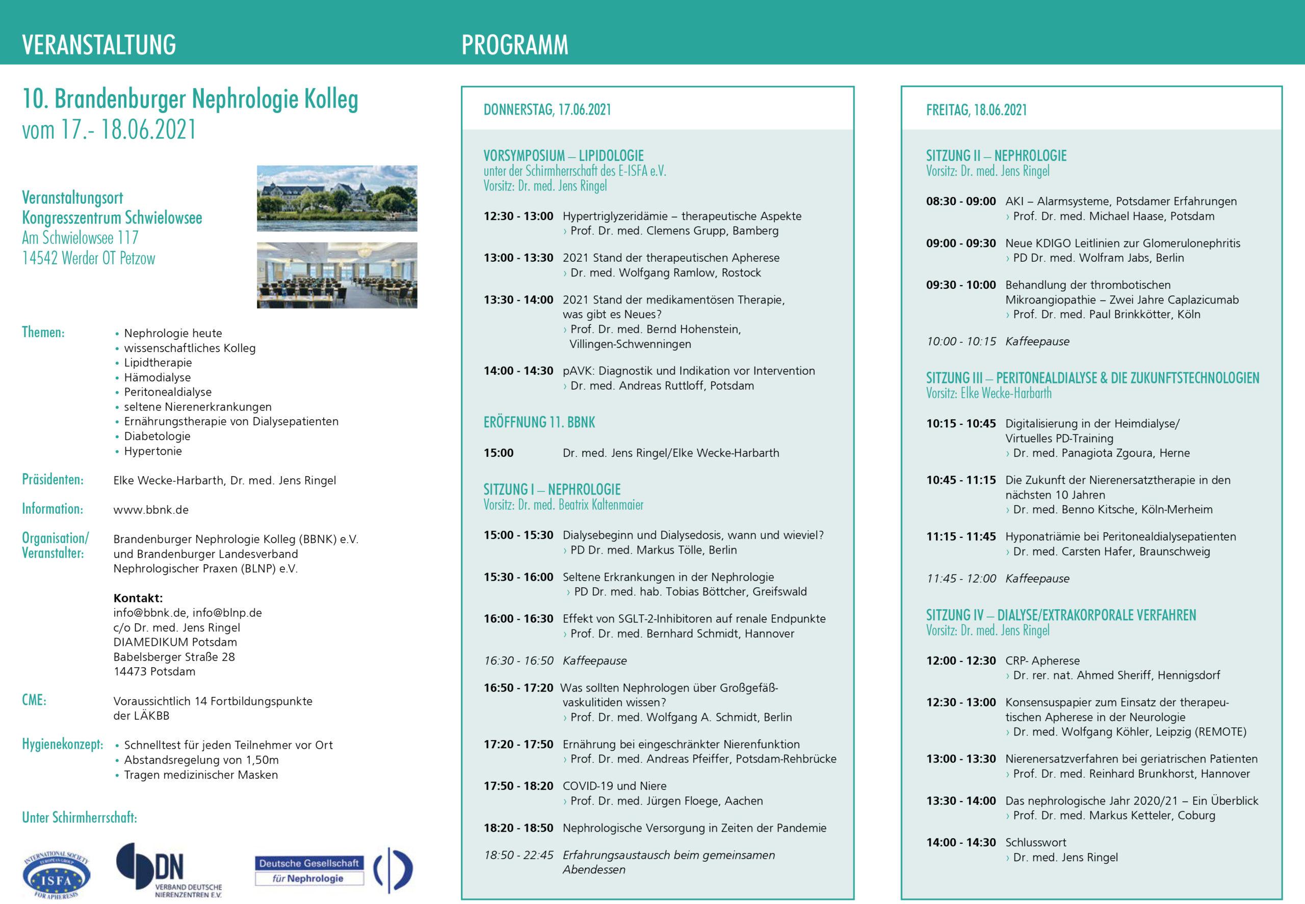 Veranstaltungsplan BBNK 2021